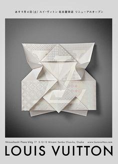 Louis Vuitton — Invitation Origami #print #origami #invitation