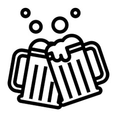See more icon inspiration related to beer, drink, alcohol, food, glass, pint, food and restaurant, frost, bar icons, alcoholic drink, beer mug, beverages, holding, beverage, cheers, party, bottle and drinks on Flaticon.