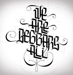 Inspirational Showcase of Amazing Typography Designs #calligraphy #white #black #and #angular #typography