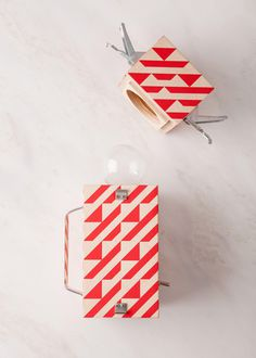 light, fuzzco, design, red, lantern
