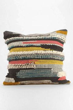 Hooked Stripe Pillow - Urban Outfitters #urban outfitters