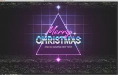 80s Christmas Artwork in Photoshop #80