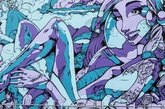 Photography of the Rise Exhibition in Christchurch on Behance #street art #graffiti #line style