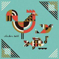 nineteenseventythreeltd: Interview: Ty Wilkins. #illustration #fish #chicken #bird