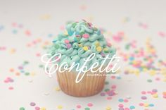 Confetti Colorful Cupcakes - Identity on the Behance Network #branding #identity #photography #confetti #cupcake