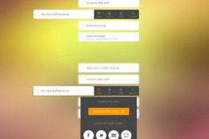 User interface kit with social sharing buttons Free Psd. See more inspiration related to Background, Icons, Social, User, Buttons, Psd, Social icons, Style, Interface, User icon, Sharing, User interface, Horizontal, Kit and Ios7 on Freepik.