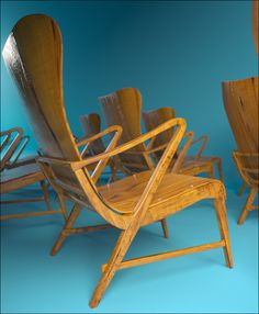 Carl Axel Armchair #sweden #carl #1950s #render #design #furniture #axel #plywood #armchair #3d #beauty