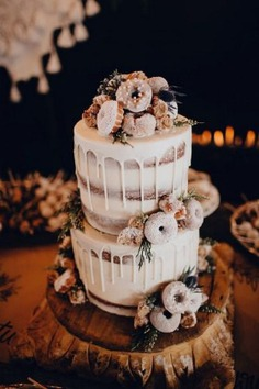 Trending-18 Delicious Wedding Cake Ideas with Doughnuts - Wedding Cakes,