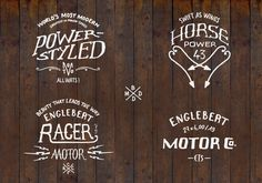 Cafe Racer by bmd design on the Behance Network #mark #logo #moto #wood