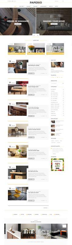 Paperio - Responsive and Multipurpose WordPress Blog Theme, buy - https://goo.gl/kJeBM0