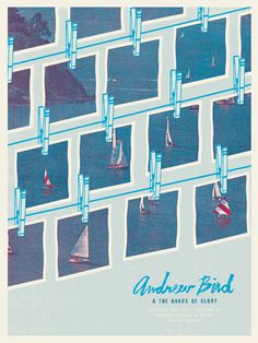 Andrew Bird & the Hands of Glory by Scott Campbell #screenprint