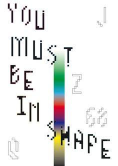 in shape poster by walter santomauro #design