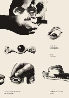 Olho Vivo x Cambada #live #white #black #cartaz #eye #poster