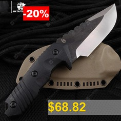 HX #OUTDOORS #D-169 #warrior #tactical #straight #knife #survival #with #D2 #BLADE #Military #Collection #knives