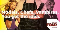 SPECIAL GROUP / WORK #chefs #models #four #group #advertising #vampires #special