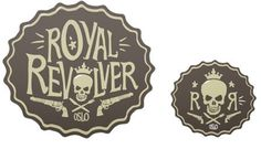 Revolver - The Metric System #identity #guns #skulls #the metric system #brandind