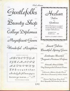 Park Avenue type specimen #type #specimen #typography