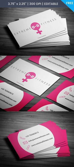 Free Female Trainer Business Card Template