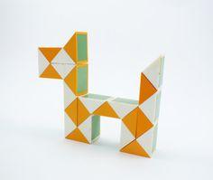 Vintage Soviet toy Angular Rubik's Cube #etsy #geo #toy