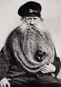 Weird and funny retro photos #photo #beard #retro #cat #portrait #man