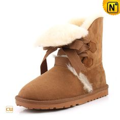 Fur Lined Leather Boots for Women CW314416