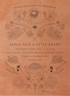 Australian Native Colour - Wedding Invitations #paperlust #weddinginvitation #weddingstationery #weddinginspiration #design #flora #paper #