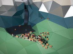 076e987ba56015051aa3ba2093e1d14386ed6fbf_m.jpg (480×360) #town #sculpture #paper #hexagon