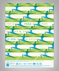 2010 CHARLESTON YOGA MARATHON POSTER #jason #humanoid #fletcher #poster #character #yoga