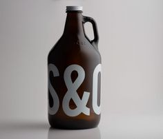 Steel & Oak Brewing #beer #bottle #packaging #design #graphic #ampersand #brewing #minimal #typography