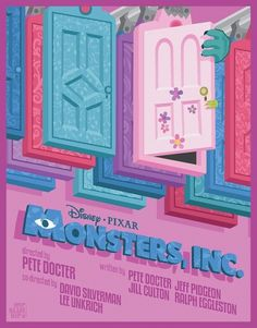 Monsters Inc. by *Mr-Bluebird on deviantART #bright #vector #monsters #inc #poster