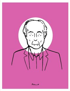 Philip Roth #philip #literature #roth #illustration #portrait #constantine #michael