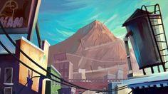Leonel Toribio - Blog #mountain #color #digital #illustration #painting