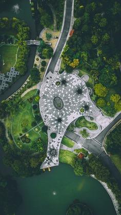 Aerial view of Lake Garden, Kuala Lumpur photo by Izuddin Helmi Adnan
