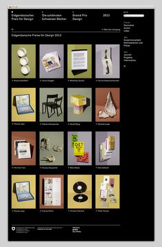 Swiss Federal Design Awards #website #layout #design #web
