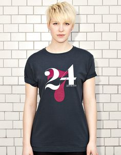 NATRI - 24/7- dark grey t-shirt - women: twenty-four-seven - eight to eight #modern #print #design #shirt #minimal #fashion #type #typography