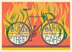 Burn the street, burn the cars #illustration