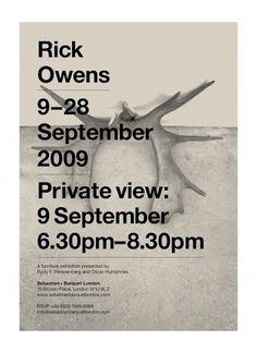 Stefi Orazi | September Industry #owens #print #design #stefi #poster #rick #orazi