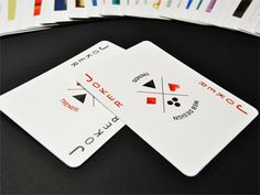 Web design of trends playing cards