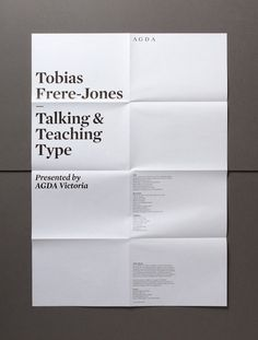 Hofstede Design + Development #design #minimal #poster #folded #layout #typography