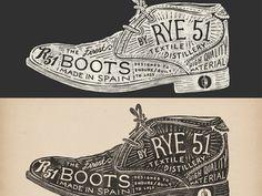 Rye 51 Boots by Jonathan Schubert #hand drawn #illustration #typography