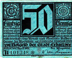 Erfurt, 50 pf, 1921 on Flickr Photo Sharing! #blackletter #vintage #typography