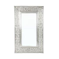 Kashmiri Cutwork Aluminium Rectanuglar Mirror Frame, 64cm x 40cm