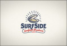 Surfside Seafood Products #logotype #branding #ocean #brand #shell #rope #shiny #seafood #sea company #surfside