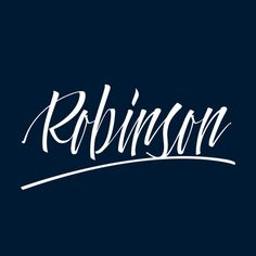 Robinson Lettering by Òscar Medina