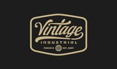 Vintage Industrial #type #badge #vintage #logo