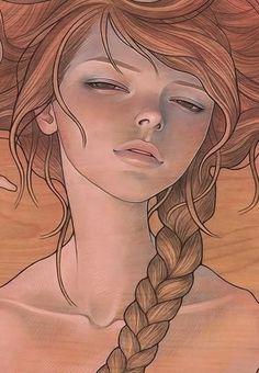 """She Entwined"" Art Print by Audrey Kawasaki"