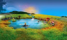 Fantasy World Pond Desktop Background Wallpaper Hd – WallpapersBae