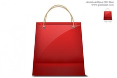 Shopping bag icon Free Psd. See more inspiration related to Business, Icon, Shopping, Icons, Internet, Bag, Shopping bag, Shopping cart, Business icons, Cart, Commerce, Handbag, Horizontal, Internet shopping and Commerce icons on Freepik.