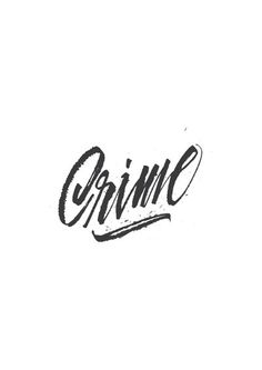 Giuseppe Salermo #calligraphy #ink #crime #typography