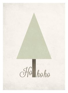 Minimal Christmas tree graphic poster